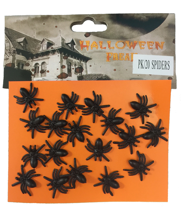 HORROR MINI SPIDERS - PACK OF 20
