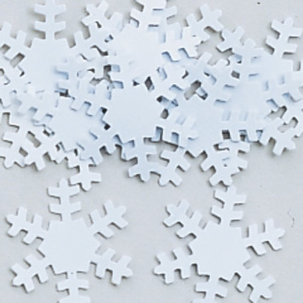TABLE SCATTERS - WHITE SNOWFLAKES