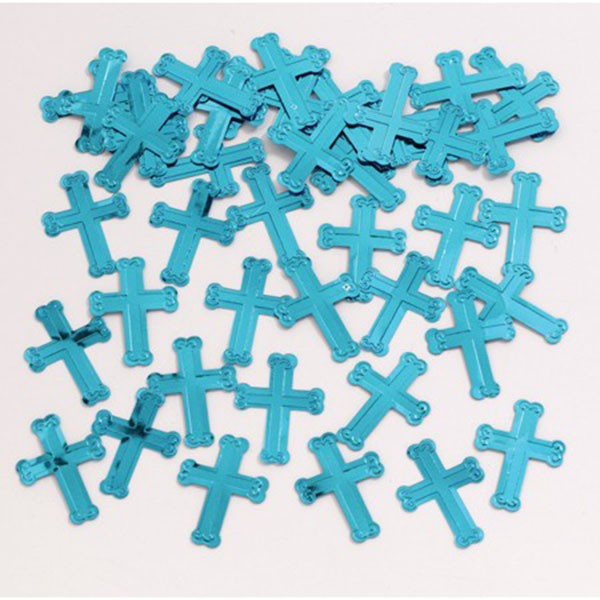 CHRISTENING CROSS  SCATTERS - BLUE