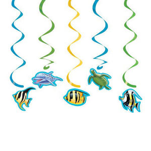OCEAN PARTY SEA LIFE DIZZY DANGLERS PACK OF 5