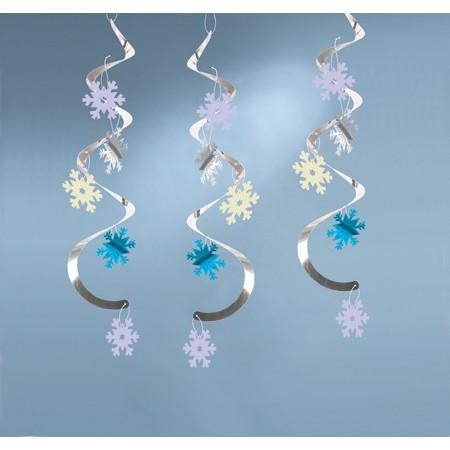snowflake dizzy danglers