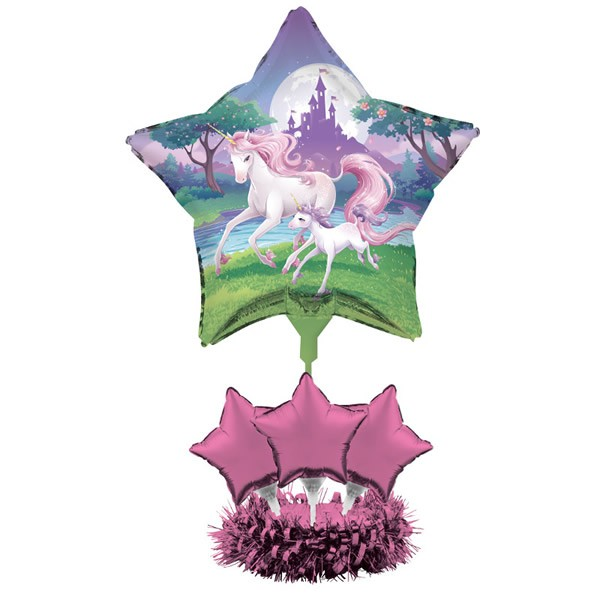 FANTASY UNICORN AIR FILLED BALLOONS CENTREPIECE KIT