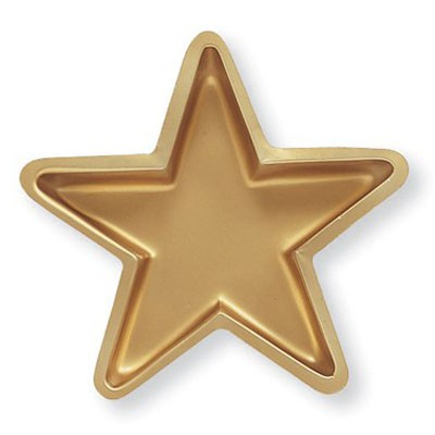 GOLD STAR SHAPED PLATTER SERVING TRAY