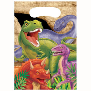 DINO BLAST LOOT BAGS PACK OF 8