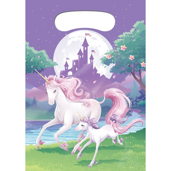 UNICORN FANTASY LOOT BAGS - PACK OF 8