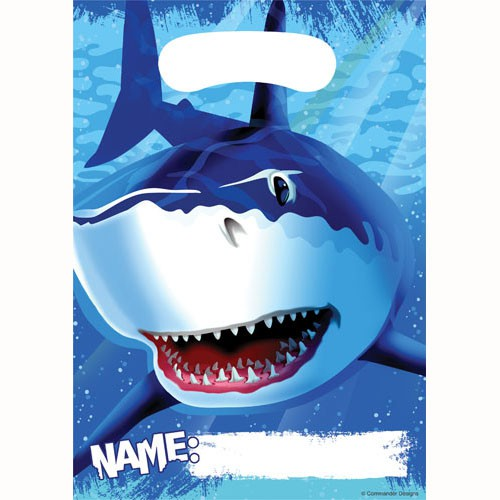 SHARK SPLASH LOOT BAGS - PACK OF 8
