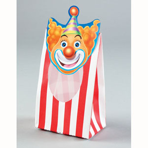 BIG TOP POPCORN OR TREAT BAG WITH WINDOW PK OF 8