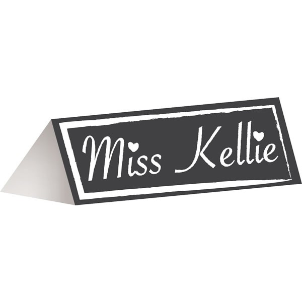 CHALKBOARD PLACECARDS - PACK OF 12