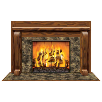 INSTA VIEW - SCENE SETTER FIREPLACE WINDOW PROP