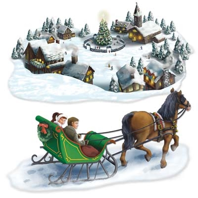 INSTA THEME - HOLIDAY VILLAGE & SLEIGH RIDE