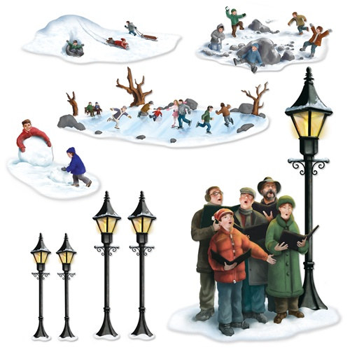 INSTA THEME - LAMP POST, CAROLERS & WINTER FUN PROPS