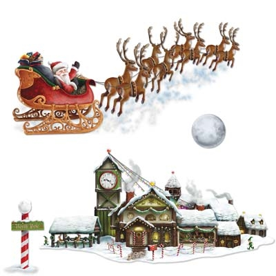 INSTA THEME - SANTA SLEIGH & WORKSHOP