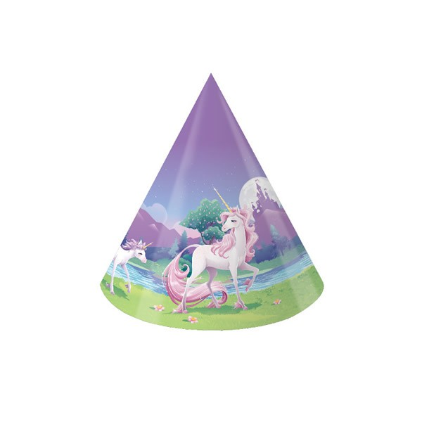 UNICORN FANTASY PARTY HATS - PACK OF 8