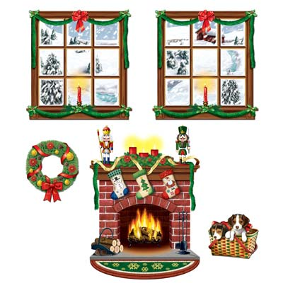 CHRISTMAS INDOOR SCENES CUT OUT PROPS