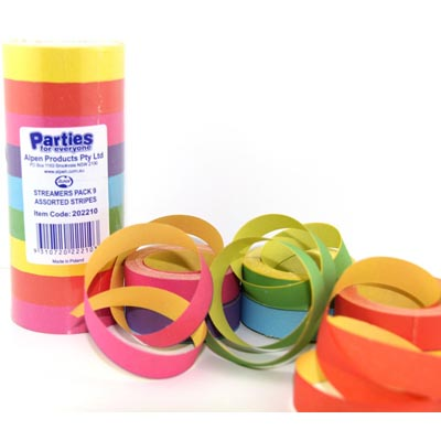 SERPENTINE/BOAT STRIPED STREAMERS - PACK 9