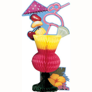 HONEYCOMB TROPICAL DRINK CENTREPIECE