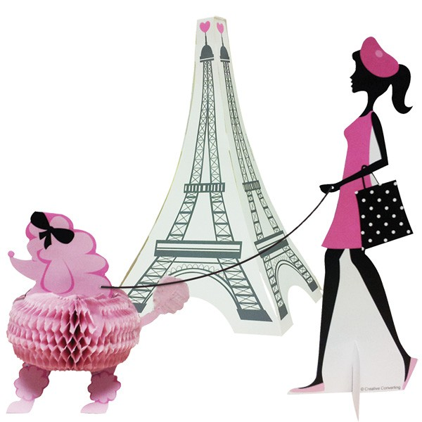 PARTY IN PARIS 3D STAND UP CENTREPIECE