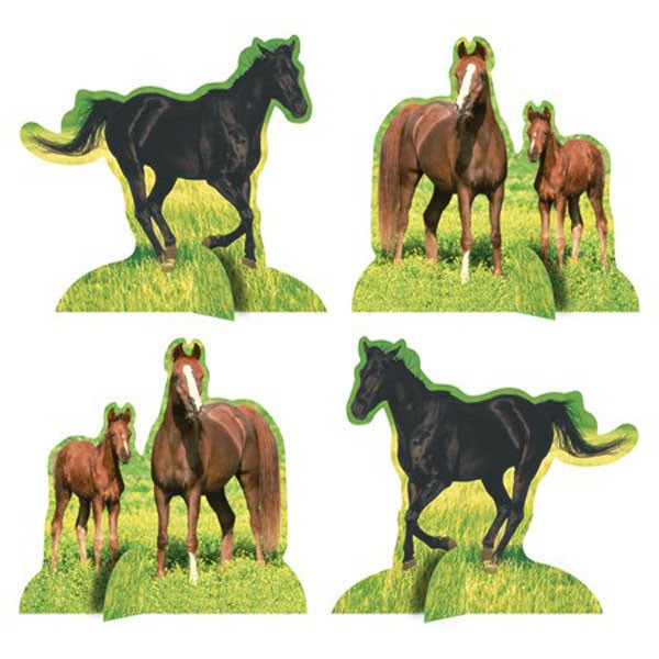 WILD HORSE TABLE CENTREPIECES - PACK OF 4