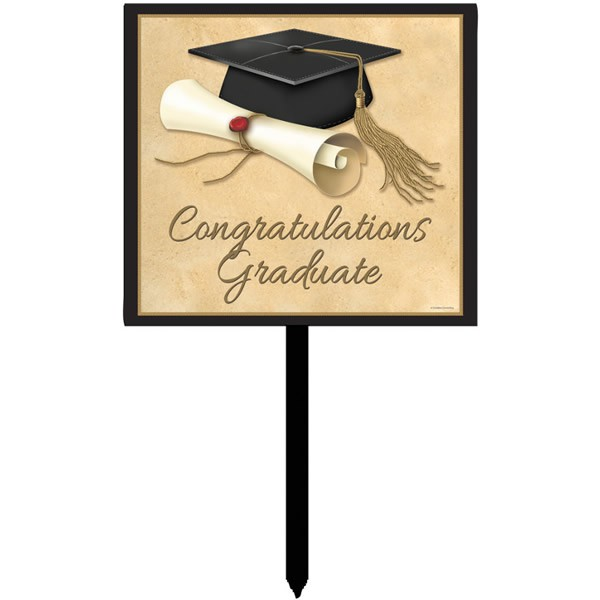 GRADUATION SOPHISTICATE YARD SIGN