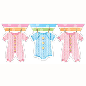 BABY CLOTHES THEME FLAG BANNER