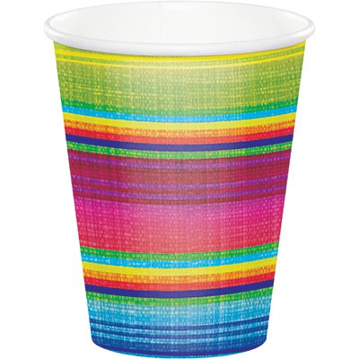 MEXICAN BLANKET 'SERAPE' PAPER CUPS - PACK OF 8