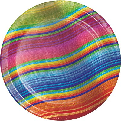 MEXICAN BLANKET 'SERAPE' LUNCHEON PLATES - PACK OF 8