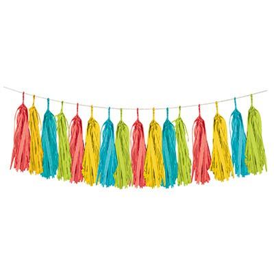Image of Mexican Fiesta Tissue Tassel Garland