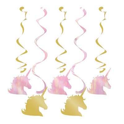 UNICORN SPARKLE DIZZY DANGLERS - PACK OF 5
