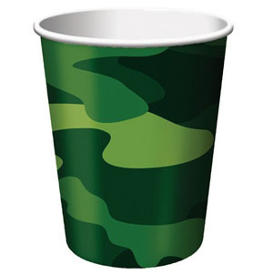 CAMO GEAR PAPER CUPS PACK OF 8