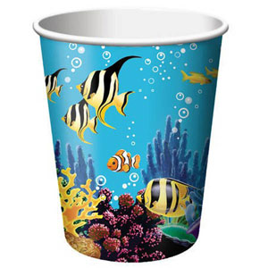 OCEAN PARTY CUPS PACK OF 8