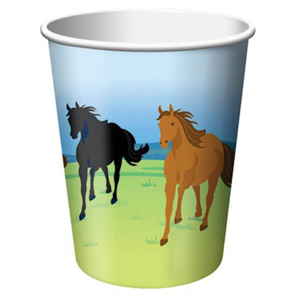 WILD HORSES CUPS - PACK OF 8