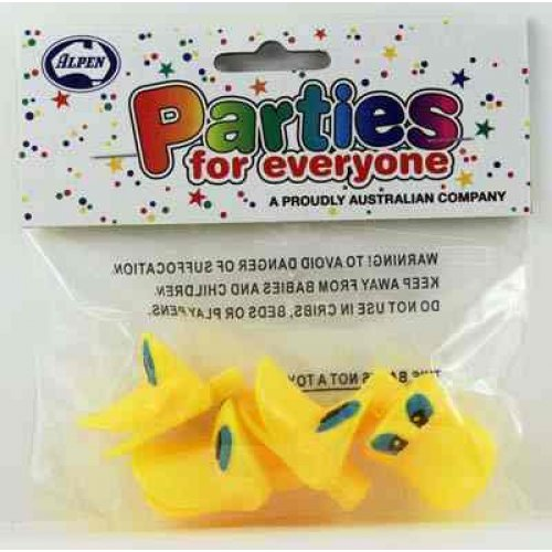 PARTY FAVOURS - DUCK WHISTLES PACK OF 4