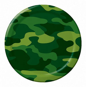 CAMO GEAR DINNER PLATES - PACK OF 8
