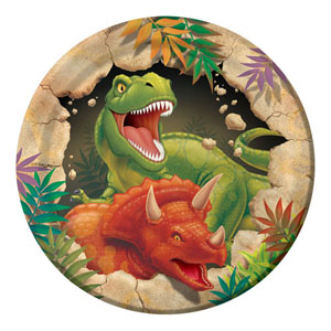 DINO BLAST LUNCHEON PLATES PACK OF 8