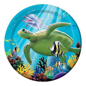 OCEAN PARTY LUNCHEON PLATES PACK OF 8