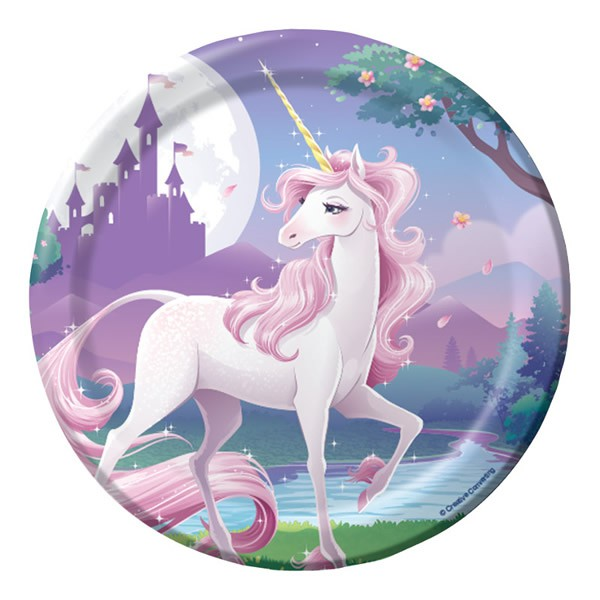 UNICORN FANTASY LUNCH PLATES - PACK OF 8