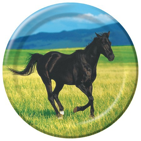 WILD HORSES LUNCH PLATES - PACK OF 8