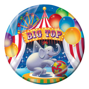 BIG TOP PARTY DINNER PLATES PK OF 8