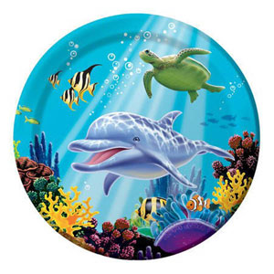 OCEAN PARTY DINNER PLATES PACK OF 8