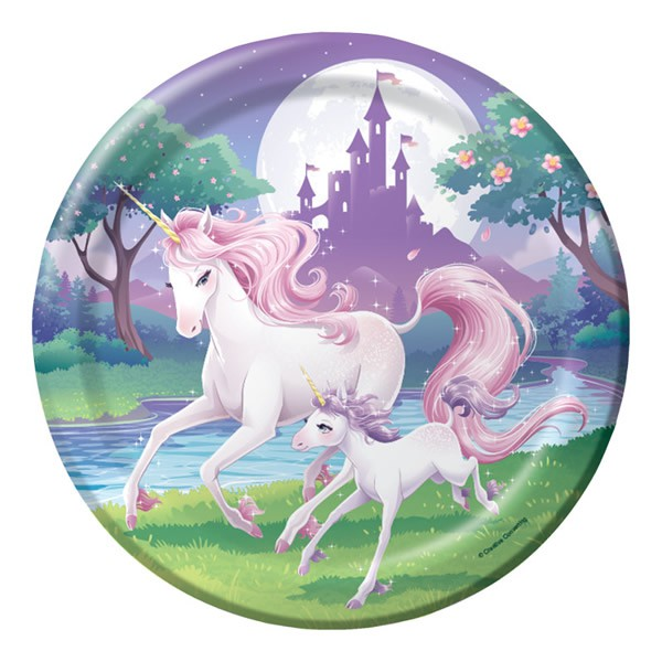 UNICORN FANTASY DINNER PLATES - PACK OF 8