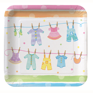 BABY CLOTHES SQUARE DINNER PLATES