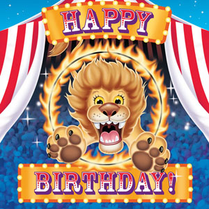 BIG TOP LUNCH HAPPY BIRTHDAY NAPKINS PK OF 16