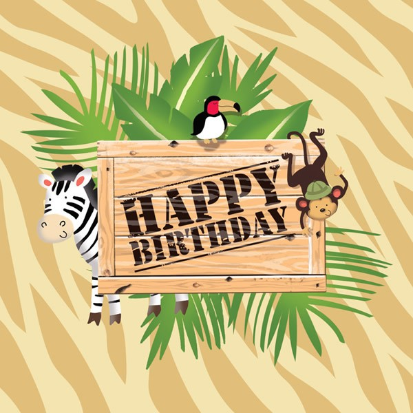 JUNGLE SAFARI ADVENTURE HAPPY BIRTHDAY NAPKINS - PACK OF 16