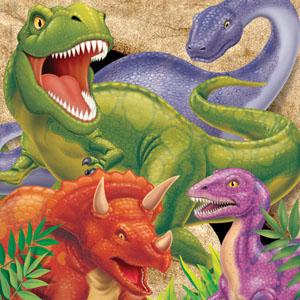 DINO BLAST LUNCH NAPKINS PACK OF 16