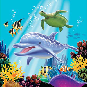 OCEAN PARTY LUNCH NAPKINS PACK OF 16