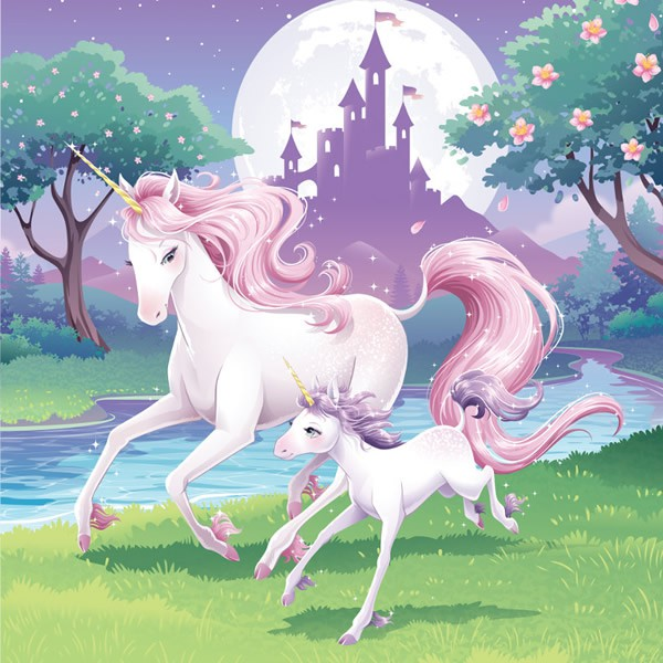 UNICORN FANTASY LUNCH NAPKINS - PACK OF 16