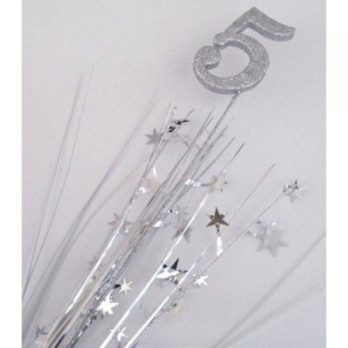 Image of Glittered Spangle Number 5 Silver