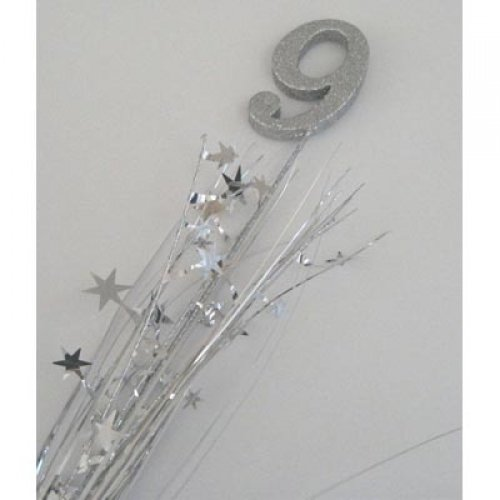 GLITTERED SPANGLE NUMBER 9 SILVER