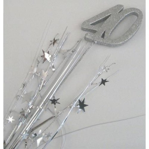40TH BIRTHDAY SPANGLE - SILVER