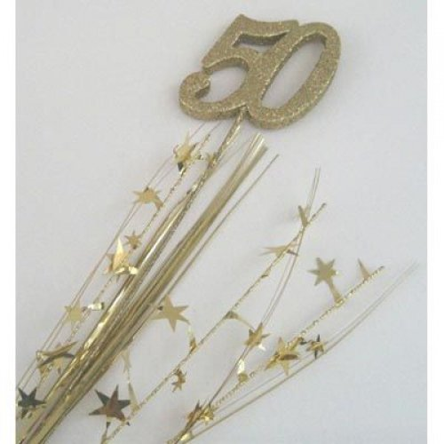50TH BIRTHDAY PARTY SPANGLE - GOLD